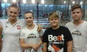 od lewej-Aleksandra Urbańczyk, Maja Zdrojewska, Jakub Michalski, Daniel Szendzielorz